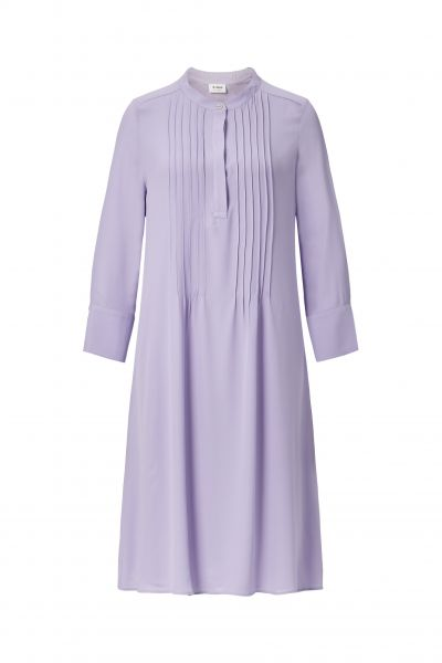 Dress with pin tucks an plissee - pastel lilac